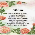 Mother's Day Poems Wishes